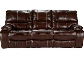 Power Recliner Leather Sofa Home Brown Leather Power Reclining Sofa
