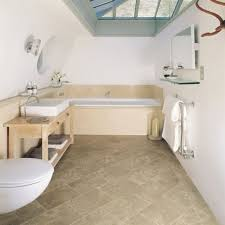 small bathroom using white wall paint feat fancy slopping ceiling