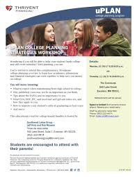 thrivent financial college planning strategies workshop nov 16
