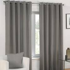 Grey And Silver Curtains Plain Silver Grey Lined Eyelet Curtains Tony S