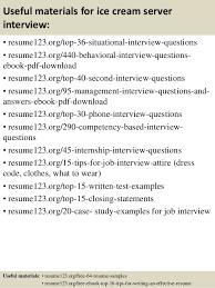 Resume Templates For Servers Top 8 Ice Cream Server Resume Samples