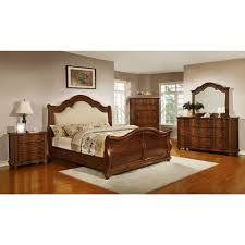 Cherry Wood Sleigh Bedroom Set Homelegance Davina King Size Sleigh Bedroom Set In Brown Cherry