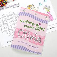 personalized flower coloring book