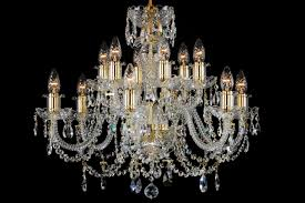 Classic Chandelier 12 Light Classic Georgian Style Chandelier In Brass With Gold