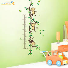 zooyoo original playing monkey tree height wall art stickers kids free shipping zooyoo original playing monkey tree height wall art stickers kids nursery removable decor decals home mural