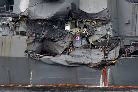 military releases details about how uss fitzgerald crashed new