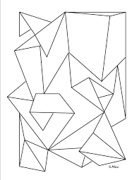 printable pictures geometry coloring pages 68 about remodel line