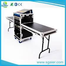 Dj Desk China 2u 20u Double Rack Flight Case With Mixter And Dj Table Dj