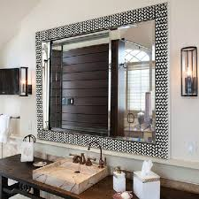 remodelaholic framing a large bathroom mirror with regard to