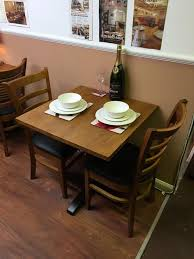 Table For Two by Secondhand Chairs And Tables Restaurant Or Cafe Tables Solid