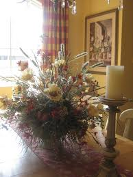 fresh flower arrangement ideas for dining room design with wood