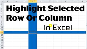 excel vba tips n tricks 17 highlight selected row or column youtube