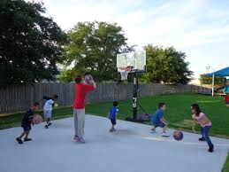 backyard basketball court dimensions design and ideas cooper house