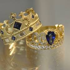 king and crown wedding rings exclusive king and wedding rings with crown design 10