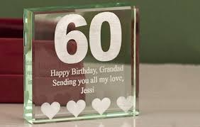 gift ideas for someone turning 60 personalised 60th birthday gifts presents i just it