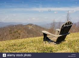 Adirondack Chairs Asheville Nc by Adirondack Chair Overlooking Mountains Stock Photo Royalty Free