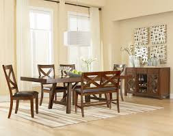 trestle dining room table with two leaves by standard furniture