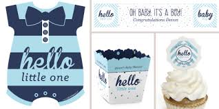 boy baby shower favors hello one blue and silver baby shower theme