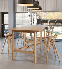 wooden high bar table contemporary high bar table wooden rectangular 02 lugi