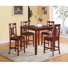 cherry wood counter height dining room set