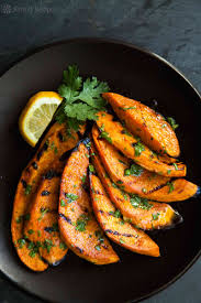 sweet potatoes recipes for thanksgiving grilled sweet potatoes recipe simplyrecipes com