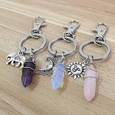 crystal key rings images Boho keychain crystal keychain crystal key chain boho jpg