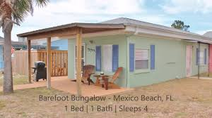 barefoot bungalow gulf view rental home in mexico beach fl