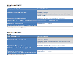 sample delivery receipt template free download formal word templates