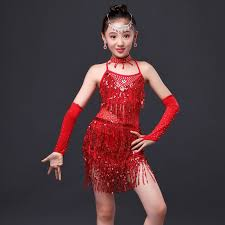 indian dress for kids girls dancewear costumes rose red gold top