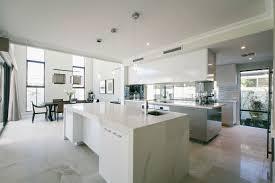 Interior Design Kitchen Pictures by Lauren Interiors Caesarstone Calacatta Nuvo White Marble Kitchen