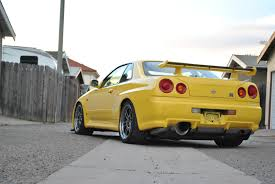 r34 rare lightning yellow r34 skyline gt r vspec rare cars for sale