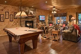 basement homes the retreat rustic basement by log homes of america