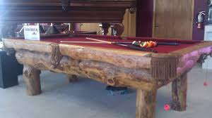 build a pool table lodge pole rustic pool table