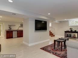 basement with carpet u0026 limestone tile floors in washington dc
