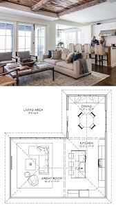 kitchen family room floor plans best 25 great room layout ideas on family room design