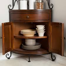 Bakers Rack With 2 Drawers Greenhome123 Wrought Iron Corner Bakers Rack With Wooden Kitchen