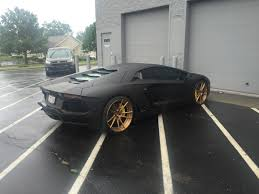 Lamborghini Aventador Matte Black - lamborghini aventador matte black wrap vivid wraps
