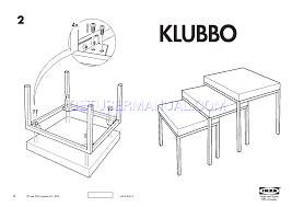 Ikea Nesting Tables by Ikea Tables Klubbo Nesting Tables Set 3 Assembly Instruction