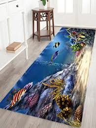 Dolphin Rugs Underwater World Pattern Indoor Outdoor Area Rug Colormix W Inch