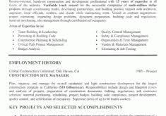 Construction Manager Resume Examples by All About Resume Example For Your Job Search Resume Example