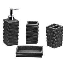 Gray Bathroom Accessories Set by Bathroom Accessories Set Grey Amazon Co Uk