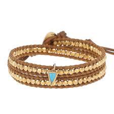 double wrap bracelet images Gold double wrap bracelet with turquoise charm chan luu jpg