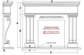 Standard Fireplace Dimensions by Nottingham Classic Stone Fireplace Mantel Mantelsdirect Com