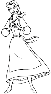 printable belle coloring pages for kids coloringstar