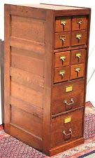 Vintage Oak Filing Cabinet Antique File Cabinets Ebay