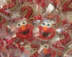 elmo party supplies elmo cookies etsy