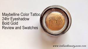 maybelline color 24hr eyeshadow bold gold review indian