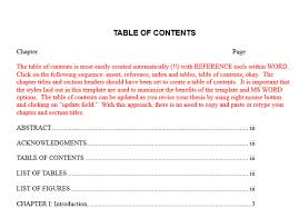 Google Doc Table Of Contents 10 Best Table Of Contents Templates For Microsoft Word