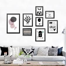 living room prints modern nordic art prints posters cute carton animals on canvas wall