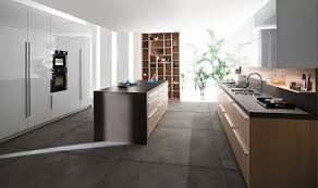 kitchen beautiful black white wood stainless modern design